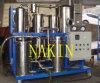 Separación del reciclaje del aceite de lubricante del agua/de la planta de filtrado