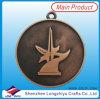 Le bronze d'argent d'or de médailles de souvenirs de médaille en métal de conception de mode folâtre la médaille