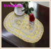 Doilies do Crochet do laço de Placemat /Golden do laço do PVC