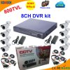 8 Channel DVR Kit with Sony 800tvl Bullet Camera