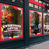 Static окна магазина стикера съемной собственной личности рождества слипчивый льнет стикер
