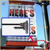 Kundenspezifisches Vinyl, das Straßenlaterne-Pole-Fahnen-Markierungsfahnen bekanntmacht