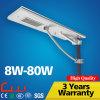 20W 5m Q235 하나에서 강철 폴란드 LED 태양 가로등 전부