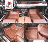 車のカーペット3Dの刺繍の総合的な革XPEマット