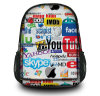 New Fashion School Canvas Backpack Laptop Shoulder Bag para mulheres