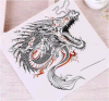 Tatuaje temporal del arte de las etiquetas engomadas del tatuaje de la transferencia del agua de la carrocería del dragón