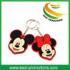 Kundenspezifische Mickey geformte weiche Belüftung-Gummischlüsselketten-Förderung