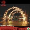 Openlucht Aangestoken LEIDENE Kerstmis van de Boog over de Lichten van Decotations van het Motief van de Straat voor Vakantie