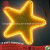 A estrela de néon assina a decoração Home interna IP65 DC12V do pendente ao ar livre DIY da luz da parede do Signage das luzes