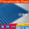 Feuille ondulée de PC de feuille solide de feuille de cavité de polycarbonate de résistance d'incendie