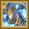 Красивейший шарф напечатанный цифров Silk (F13-0012)