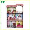 Casa de muñeca de madera del bebé divertido caliente de la venta para los niños