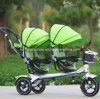 Tricycle pour enfants enfants à deux sièges