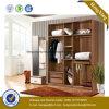 Armário de madeira do Wardrobe do armazenamento do projeto novo (HX-LC2084)