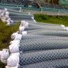 エレクトロによって電流を通されるチェーン・リンクの金属の網の塀