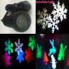 Decoración al aire libre colorida de la Navidad del día de fiesta LED de X-51p, luz blanca del copo de nieve del LED, proyector de luces móvil de la Navidad de los patrones LED
