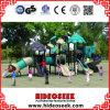 新しく自然な景色シリーズ屋外の子供の運動場装置