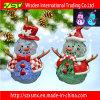 Ornamento da árvore de Natal da argila do polímero com as decorações claras do diodo emissor de luz