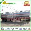 3車軸45m3バルク燃料かオイルまたはガソリンまたは液体実用的な化学タンカーのトレーラー