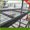 Cremalheira média do armazém do dever do metal com Decking do fio