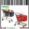 Carro de compra plástico colorido do supermercado