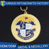 Medaglia Bronze d'argento dorata del premio del metallo di sport poco costoso piacevole