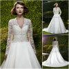 Vestido de casamento longo da luva (WD008)