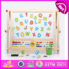 Planche à dessin 2014 en bois éducative pour des enfants, panneau en bois d'aspiration de jouet pour des enfants, planche à dessin avec magnétique pour l'usine du bébé W12b045