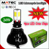 2015熱いSell 4PCS LED Chips Motorcycle LED Headlight 2200lumen 24-25watt