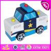 2015 grandi polizie di legno di stile nuovo giocano, mini giocattolo dell'automobile del giocattolo della polizia promozionale dei capretti, il giocattolo di legno W04A119 del volante della polizia del giocattolo di modello del volante della polizia