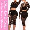 Черное Lace Skirt Set с Lining