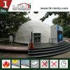 Media esfera de PVC de la cubierta de la tienda blanca de la bóveda geodésica para la venta