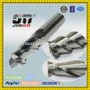 2 moinhos de extremidade de alumínio altamente Polished do carboneto contínuo do tungstênio das flautas