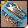 De populairste Duidelijke Armband van het Leer voor de Gift van Kerstmis (FB040)