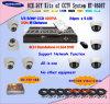 8CH CCTV DVR und 8 Haube-Kamera-Überwachung-Installationssatz ((HT-8608T)