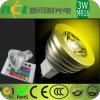 Bulbo do diodo emissor de luz MR16, mudança da cor, controlo remoto, consumo de potência 3W