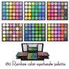 Sombreador de ojos coloreado multi de 180 colores del maquillaje del arco iris