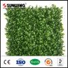 Seto artificial del PVC de la cerca plástica barata de la hoja para la decoración del jardín