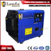 generador diesel silencioso refrescado aire Genset la monofásico 6kw