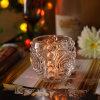 Imbarcazione di vetro a forma di della candela del fiore