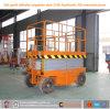 Levages mobiles hydrauliques de ciseaux avec quatre roues