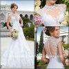 Robes de mariage brésiliennes nuptiales de lacet de Vestidode Casamento de robes de sirène Z9029