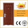 低価格の単一の使用された外部の鉄のドア(SC-S056)