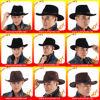 Chapéus de vaqueiro ocidentais sentidos para homens, chapéus de 100% lãs clássicas por atacado do interior ao ar livre para homens