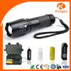Lanterna elétrica operada do diodo emissor de luz Shadowhawk X800 do zoom foco ajustável recarregável