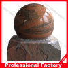 Stone rosso Rolling Ball Fountain con Earth Map Ball