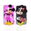 Caixa estando do telefone do silicone do PONTO de polca da listra de Mickey Minnie (XSD-034, XSD-035)