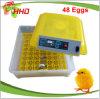 Le prix automatique d'incubateur d'oeufs de Hhd est seulement 40USD Yz8-48