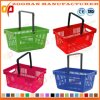 단 하나 손잡이 (Zhb122)를 가진 다채로운 상점 상점 슈퍼마켓 플라스틱 바구니
