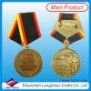 リボン(lzy201300158)が付いている3Dによって浮彫りにされる旧式な青銅色の軍メダル